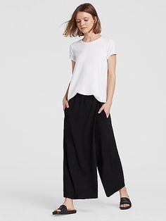 Viscose Jersey Wrap Pant | EILEEN FISHER