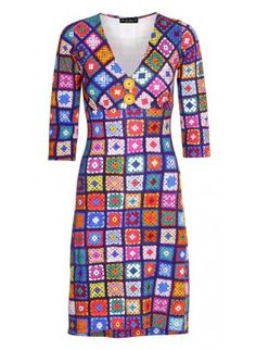 Pin-up dress Crochet lilla