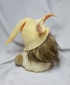 Soft and fluffy complete with an adorable bunny tail and ears, this little gnome is all ready for Easter! Brondolf the bunny stands 9 inches tall and is made with all new materials including fleece, felt, faux fur, a pom pom tail, polyester fiberfill, rice for a weighted base and of
