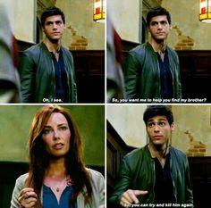 """Alec and Jocelyn - Shadowhunters 2x02 """"A Door Into the Dark"""""""