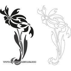 Free Stencil Designs | Medieval Flower Pattern Stencil Design From Kingdom Pictures