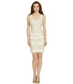 Adrianna Papell Sequined Beaded Dress
