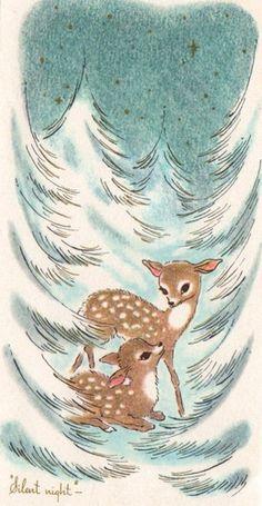 Winter deer.