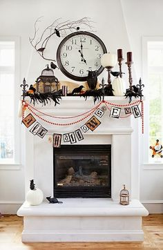 HALLOWEEN DECOR, Halloween Mantle Inspiration with dollar store finds via THE LifeStyled COMPANY blog!