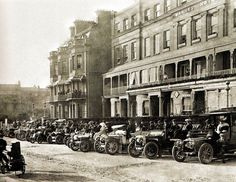 The competitors in the first South Coast Motor Rally Championship outside Warne's Hotel, Worthing, Sussex, England - 1 June 1905 > lived there for several years... miss it and my friends very much...