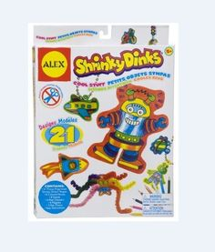 SHRINKY DINKS COOL STUFF Kit Set Creative Activity Pack Sheet Clear Bake NEW #AlexToys
