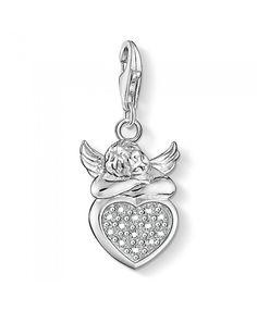 bf04e02fc Thomas Sabo Angel and Heart Charm Sale Thomas Sabo, Heart Charm, Charms,  Pendants
