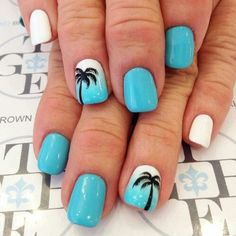 After seeing these gel nail designs, you will be calling to make an appointment to get your gel nails done. We Collect 22 Irresistible Easy Gel Nails Design Blue Nails, My Nails, White Nails, Nails 2017, Polish Nails, Nail Polishes, Cute Shellac Nails, Nail Art Blue, Summer Shellac Nails