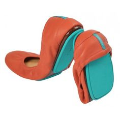 Tangerine Tieks flats. Wow, why are these so expensive($165)? Because I want them, that's why.