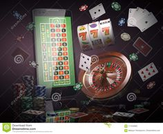 mobile phone, roulette with casino chips, slot machine and cards Gambling Games, Gambling Quotes, Casino Games, Casino Night Party, Casino Theme Parties, Slimming World, Las Vegas, Casino Royale, Picture Cards