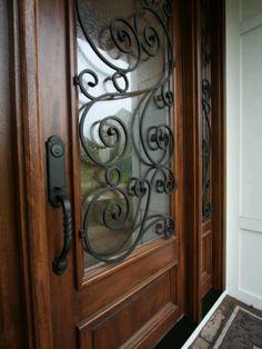 Entry door iron