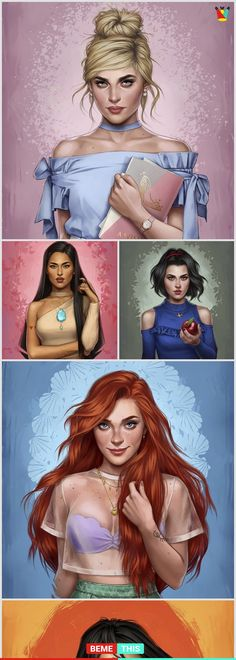 Modern Version of Classic Disney Princesses is part of Disney princess modern - Ever wonder how Arial would dress if she came out in 2017 Well wonder no Disney Pixar, Disney Memes, Disney And Dreamworks, Disney Animation, Disney Love, Walt Disney, Disney Girls, Disney Frozen, Disney Princess Drawings