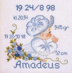 Buy Baby Bonnets Boy Sampler Cross Stitch Kit Online at www.sewandso.co.uk
