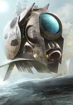 concept art space ship