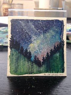 Original Watercolor Landscape Mini by ElissaSueWatercolors on Etsy