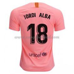 39b5d5247 Fodboldtrøjer La Liga Barcelona 2018-19 Jordi Alba 18 3. Trøje