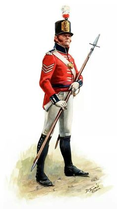 Sgt. 10th Royal Veteran Battalion 1812 by Don Troiani