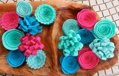 Wool Felt Flowers-DIY Wreath Flowers-Felt by TheBeautifulDoor