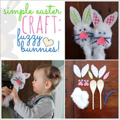 Fuzzy bunnies are an easy DIY to do with your toddlers this Easter.