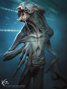Discover interesting animals and creatures from other worlds! Designing interesting lifeforms is my true passion. I always try to make my designs as believable and realistic as possible. Alien Concept Art, Concept Art World, Creature Concept Art, Fantasy Monster, Monster Art, Alien Creatures, Fantasy Creatures, Creature Feature, Creature Design