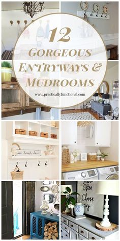 12 gorgeous entryways and mudrooms; great makeover inspiration!