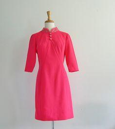 60s vintage Pink Party Dress