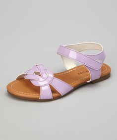 Look at this #zulilyfind! Lilac Patent Knot Mary Sandal by Kelly Kids #zulilyfinds
