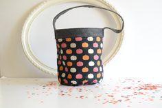 Halloween Bucket - Toddler Treat Bag - Fabric Bucket - Candy Bucket - Metallic…