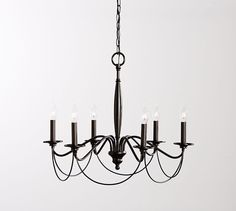 Graham Chandelier | Pottery Barn [reg 199, sale 149 - 20% off coupon + tax + shipping = $147.43 total.  11/29/16]  #formaldining