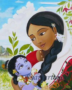 Krishna fathya peinture Inde art pariétal art original par syamarts