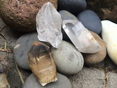 Quartz Points Dinged and Discounted by savagedryad on Etsy