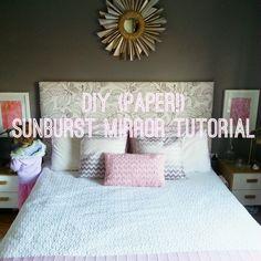 easy tutorial for paper sunburst mirror