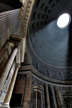 Pantheon, Roma. Favorite building in the world. Stand under the Oculus and imagine all the people who stood in exactly the same place.