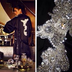 """Rise of the phoenix bird"" Zumruduanka silk night gown with crystal and beads.     P.S: Zumruduanka means the phoenix bird in Turkish www.zumruduanka.com"