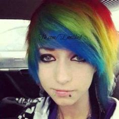 hehe i like rainbows i'm going to steal his hair
