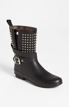 Burberry 'Holloway' Rain Boot (Women) available at #Nordstrom ... perfect for midwest weather.