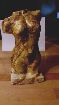 weiblicher Torso Gips, Handarbeit Mamorimitation von Figurenmagie auf DaWanda.com