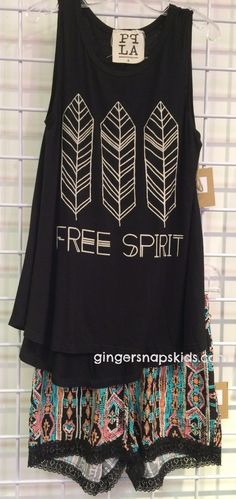 This fun free spirit tank is from a new line to our store for the tweens called…