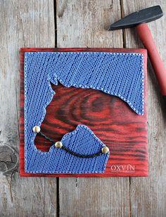 string art horse