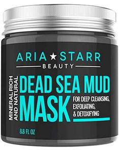 Aria Starr Dead Sea Mud Mask For Face, Acne, Oily Skin & Blackheads - Best Facial Pore Minimizer, Reducer & Pores Cleanser Treatment - Natural For Younger Looking Skin - Makeup - Roz - Care - Skin care , beauty ideas and skin care tips Face Mask For Blackheads, Acne Face Mask, Best Face Mask, Nose Mask, Ave Tattoo, Aries, Brand Review, Blackhead Mask, Blackhead Remover
