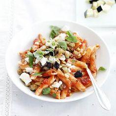 16 mei - Penne in de bonus - Recept - Pasta met aubergines - Allerhande