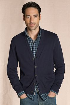 Canvas Men's Heritage Cardigan from Lands' End