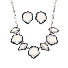 Jassy® luxury women jewelry set elegant platinum plated white opal crystal necklace earrings gift jewelry set sale #3 #piece #gemstone #jewelry #sets #jewelry #set #bridal #jewelry #set #for #her #princess #p #jewelry #sets