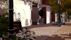 Urban Living by Simberry / Download / Sims 3 / Apartment Sims 3 Apartment, Free Sims, Different Styles, Sidewalk, Urban, Apartments, House, Home, Side Walkway