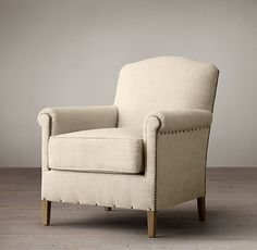 1920s French Camelback Upholstered Club Chair