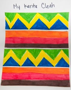 Celebrate Black History Month by having your child make her own version of a kente cloth after learning what the different colors on a kente cloth symbolize. Source by BrevardsVeryOwn art African Art Projects, African Crafts, African American History Month, Black History Month Activities, History Projects, Art History, Asian History, British History, History Facts
