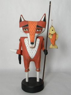Love this fox from Cart Before the Horse's Etsy site!
