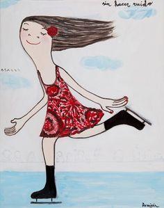 Eva Armisen Naive, Eva Armisen, Paper Cover, I Am Awesome, Disney Characters, Fictional Characters, Skates, Disney Princess, Drawings