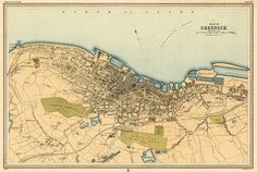 Greenock old map, 1912; archival reproduction.