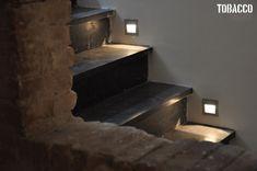 Basement stairs...lighting :)